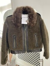 Burberry  Shearling Leather  Jacket Girls 8 Years Old