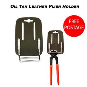 End Cutting Plier Holder Oil Tan Leather Steel Fixer Plier Holder