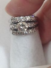 14kt white gold diamond wedding ring 1.85 tcw sz 6 appraised $6K+