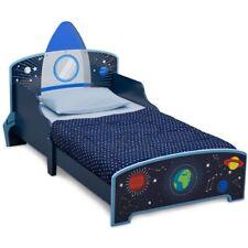 Delta Children Space Adventures Rocket Ship Wood Toddler Bed Blue Kids Room New