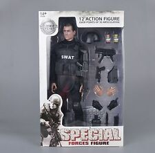 "1/6 Soldier Equipment S.W.A.T. Blk Uniform Vest Weapon Model for 12"" Figure"