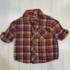 Cherokee Baby Boys Plaid Button-up Shirt size 12 mo, red, blue, yellow