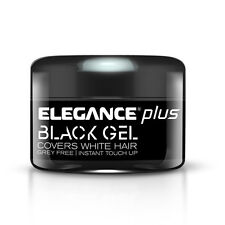 Elegance Plus Gel and Color, Black, 3.5 Ounce