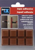 Protezione efficacie e sicura x muri e mobili 8Pz 16x16mm marrone PVC fermaporte