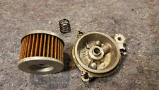 Honda ATC250SX 1985 - OEM oil pum cover with spring and filter