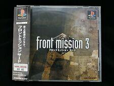 Front Mission 3 Jeu Playstation 1 PS1 JAP Japan + Spin Card