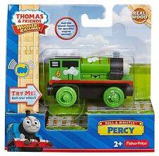 Roll and Whistle PERCY TRAIN with Sounds & Light BDG13 Thomas wooden toy track