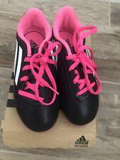 Girls Sz 13k Black Pink Adidas Conquisto FG J Soccer Cleats B25594 Youth Girls