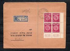 Israel Scott #41 Coins Tab Block of 4 on Bank Cover!!