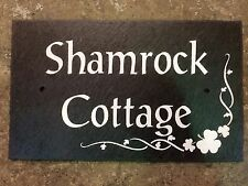 Slate name plate any message Engraved in slate Very good quality!!