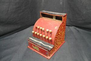 Vintage Tin Plate Tom Thumb Cash Register Works For Restoration -A4