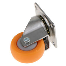 "1.25"" Orange Nylon Swivel Caster Wheel with Plate for Trolley Furniture 17kg"