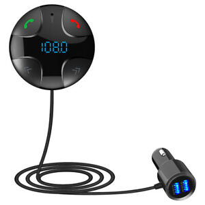 Transmetteur FM Sans Fil Bluetooth Led Voiture Mains Libres Lecteur Audio MP3