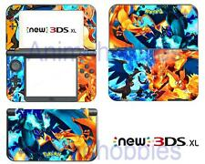 Pokemon Charizard XY Vinyl Skin Decals Stickers for Nintendo New 3DS XL 2015
