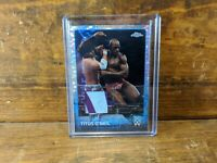 2015 Topps WWE Chrome Two Color Relic Shirt Titus O'Neil Pulsar Refractor /75