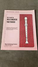 Rare. Ed Sueta RECORDER METHOD - Baroque Recorder / Book One (1992)