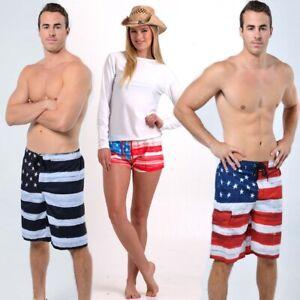 American Flag Boardshorts - US Patriotic Boardshorts - Mens/Womens - Brand New