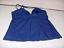 ATHLETA  WOMEN`S SIZE  40 B-38 C TANKINI SWIMSUIT  TOP  NAVY  BLUE T NWOT