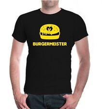 Herren Unisex Kurzarm T-Shirt Burgermeister fast food burger Hamburger Essen