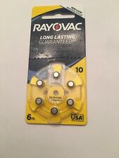 Rayovac Acoustic Special Mercury Free Hearing Aid Batteries (6 Pack) - Size 10