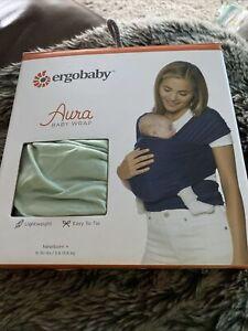 ergobaby aura wrap sage colour Newborn + Brand new in box