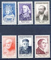 FRANCE Série N° 989/994 PERSONNAGES CELEBRES de 1954 Neufs**