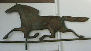 Vintage Copper Running Horse Weather Vane