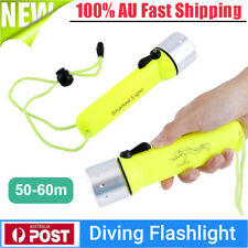 180lm Professional Waterproof Diving Flashlight Torch Underwater Lamp 60m