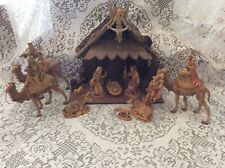Fontanini Nativity 14 Piece Depose Italy Spider Mark With Manger And Angel