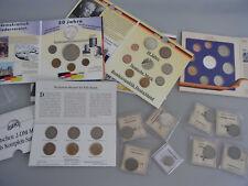 Konvolut Münzen Deutsche Mark auch Silbermünzen Kursmünzsatz BRD Fundgrube KT42