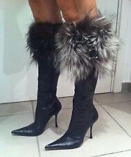 Magnifiques et très jolies bottes Gianmarco Lorenzi en cuir / fourrure taille 40