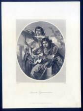 Spanische Zigeunermädchen - Musik - Sinti - Roma - Zigeuner - Stahlstich 1850