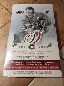 2008-09 UPPER DECK MONTREAL CANADIENS CENTENNIAL HOBBY SEALED BOX - 2 AUTOS /BOX