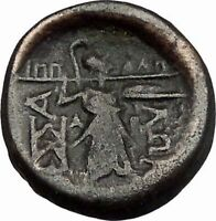 LARISSA Thessaly THESSALIAN LEAGUE 196BC Athena Apollo Greek Coin i43401