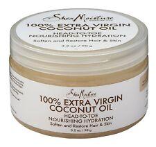 New Shea Moisture 100% Extra Virgin Coconut Oil Head-to-Toe 3.2 OZ.