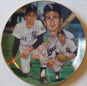 "1990 Luis Aparicio ""Pivotman"" 8 1/2"" Plate Michael J. Taylor Chicago White Sox"