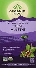 Organic India Tulsi Mulethi - 25 Tea Bags (PACK OF 6)