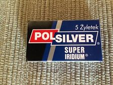 10 Polsilver Super Iridium super stainless double edge razor blade sampler.