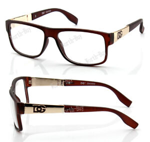 New WB Womens Square Clear Lens Frame Eye Glasses Fashion Designer Brown Nerd