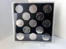 ACRYLIC COIN DISPLAY CASE FOR BEATRIX POTTER FULL 50p SET 2016-2018 (13 slots)