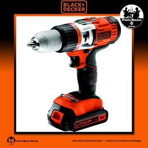 BLACK+DECKER. Trapano Avvitatore a percussione - Hammer drill   EGBHP1881BK-QW