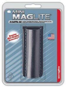 Fondina in pelle da cintura MAG-LITE AM2A026E per torcia mini MAGLITE AA Nuovo