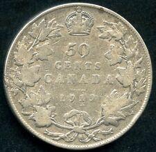 1919 Canada 50 Cent Silver Coin (11.66 Grams .925)