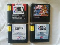 SEGA Genesis Game (4) NBA Showdown 94', Bubsy, NBA Live 95', Toughman Contest