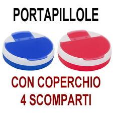 PORTA PILLOLE Pasticche PASTIGLIE 4 SCOMPARTI Giornaliero SETTIMANALE Medicine !