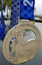 "2018 RUN 1000 MILES CHALLENGE FINISHERS MEDAL 4.5"" RUNNING BLING SILVER"