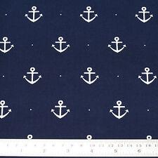 Cotton Fabric FQ Nautical Sea Marine Boat Anchor Dot Spot Dress FabricTime VK53
