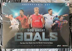 500 Great Goals collectors set - Premier & UEFA & Fifa - New & Sealed - Region 4