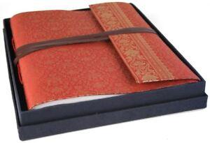 Sari Silk Photo Album, Large Ruby - Handmade by Life Arts