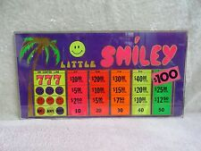 SLOT MACHINE GLASS LITTLE SMILEY  CASINO GAMBLE CARDS  PICTURE FRAME BANDIT